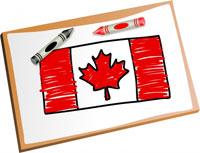 Kanadische Flagge von einem Schüler in Kanada gezeichnet