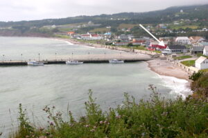 Lage des Restaurants in Percé (Foto: Marc Lautenbacher)