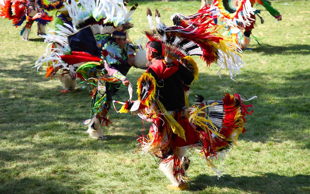 Großes Pow-Wow in Wendake, das jedes Jahr im August stattfindet.